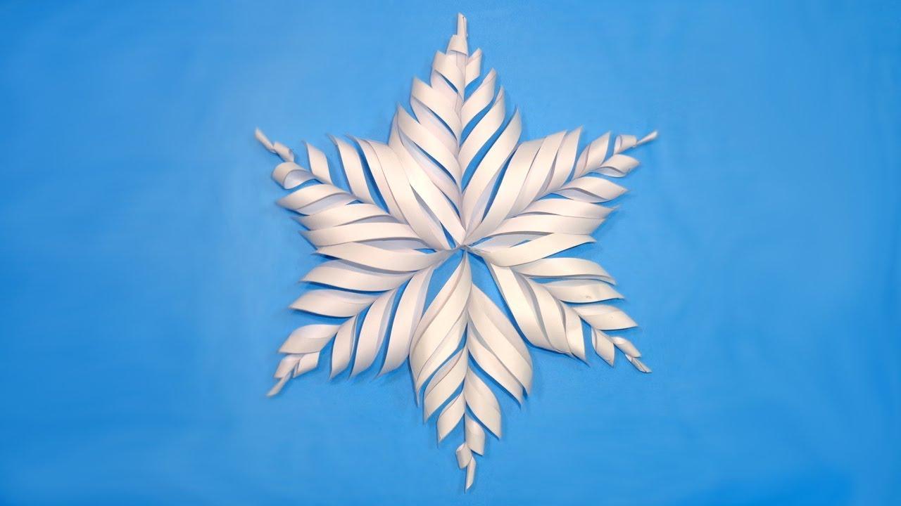 paper snowflake tutorial youtube