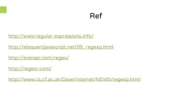 regular expression online tutorial