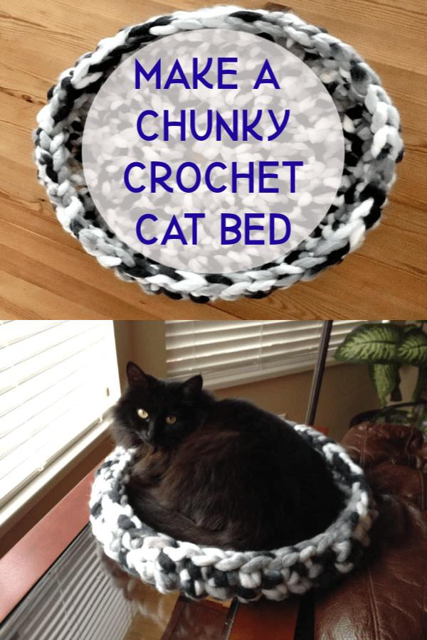 crochet cat bed tutorial