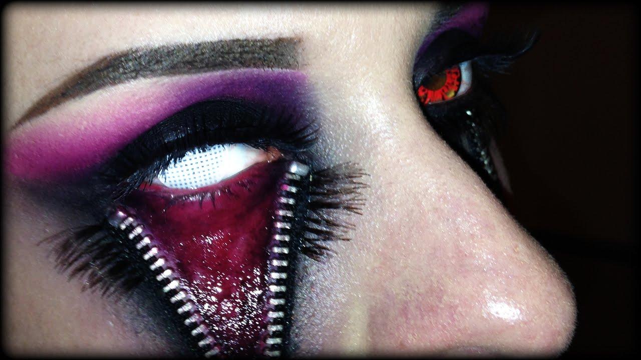 halloween latex makeup tutorial