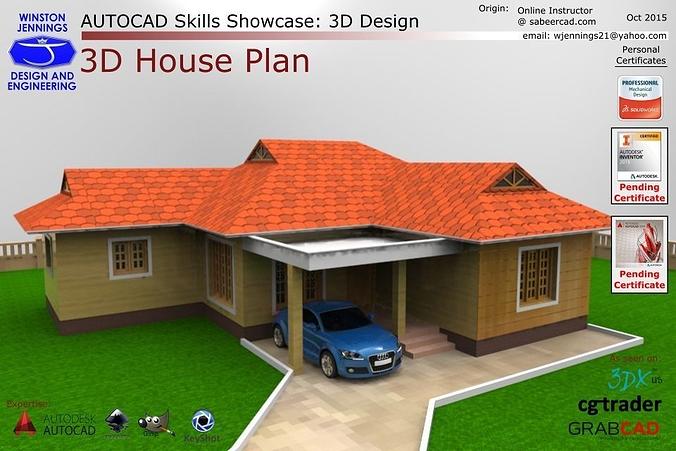 autocad 3d house design tutorial pdf
