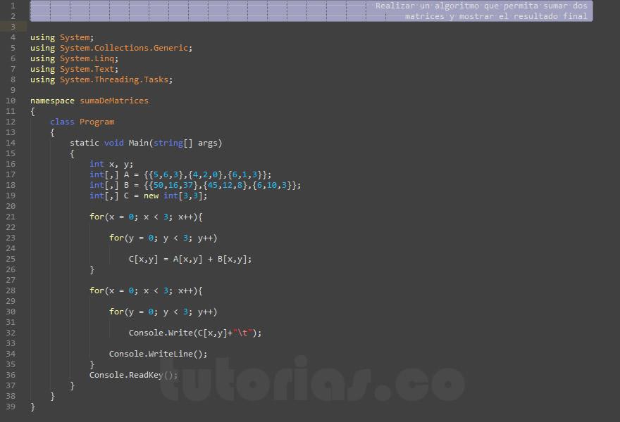 c al code tutorial