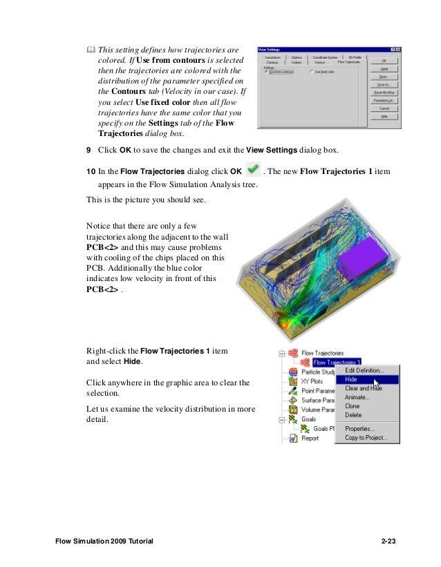 solidworks flow simulation 2009 tutorial