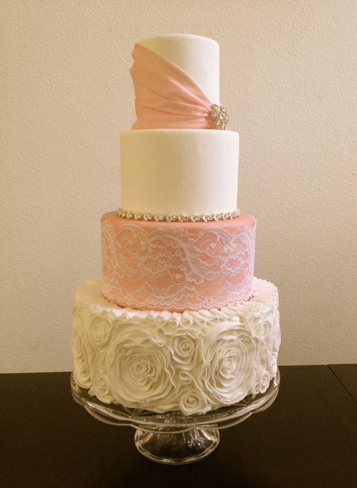 ruffle wedding cake tutorial