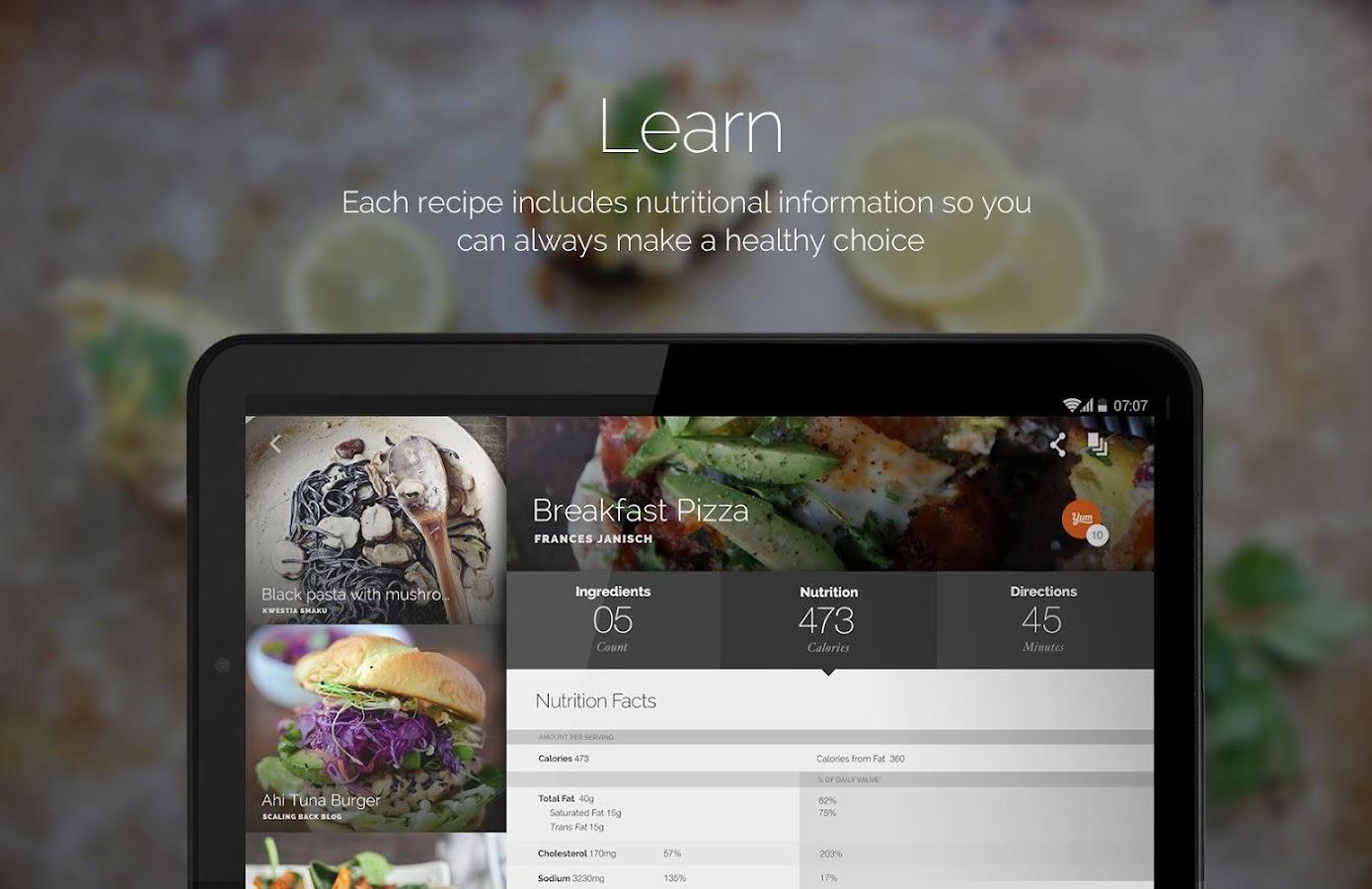 android recipe app tutorial