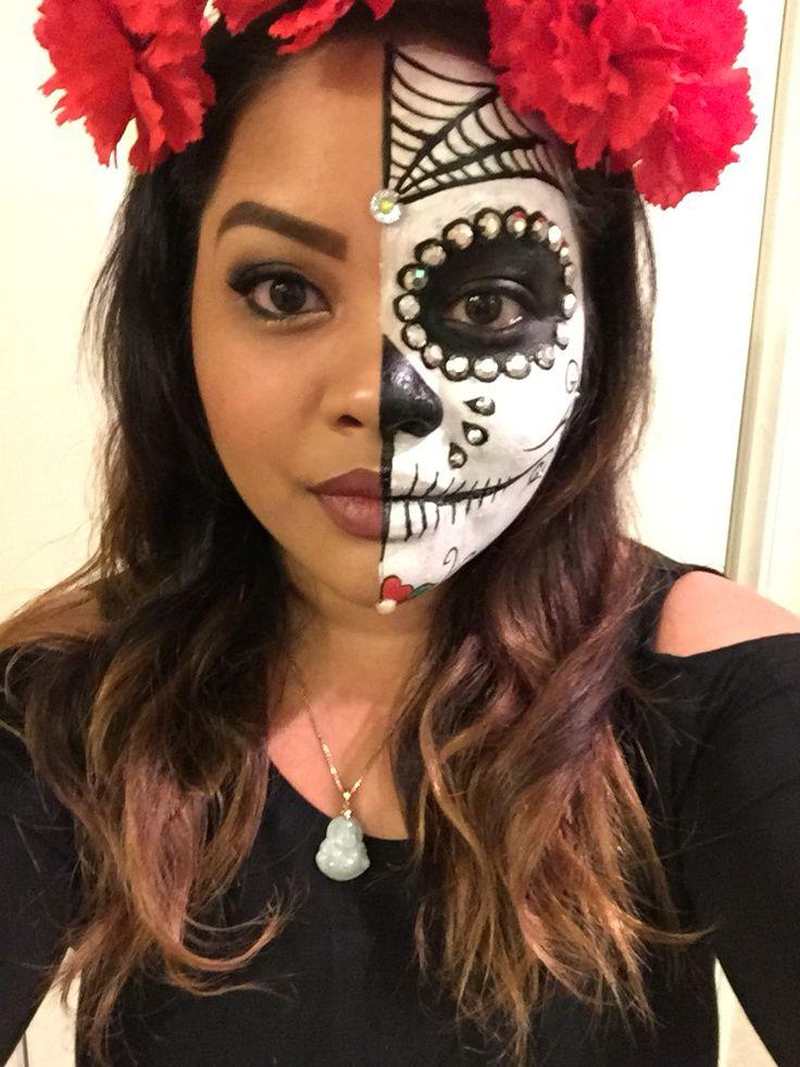 skeleton face halloween makeup tutorial