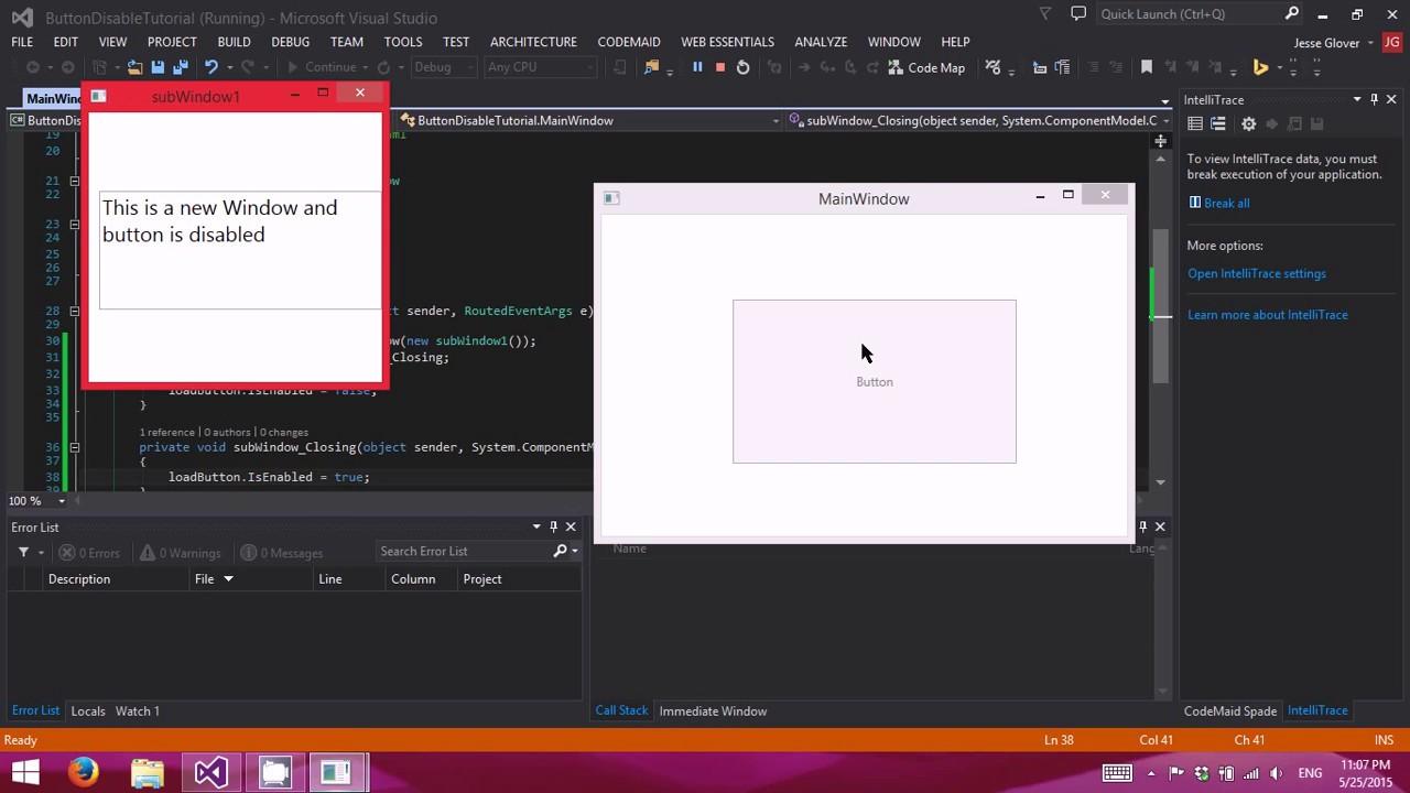 wpf tutorial video c#