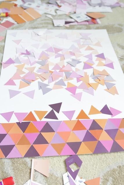 paint chip wall art tutorial