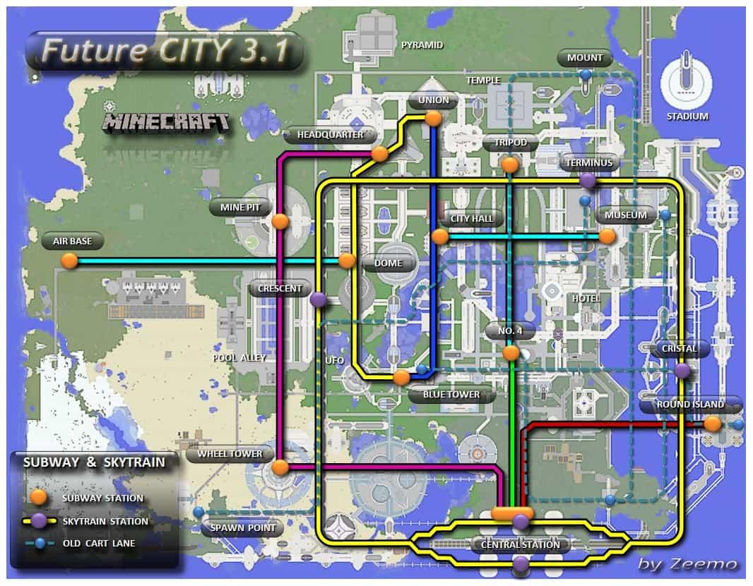 minecraft subway station tutorial