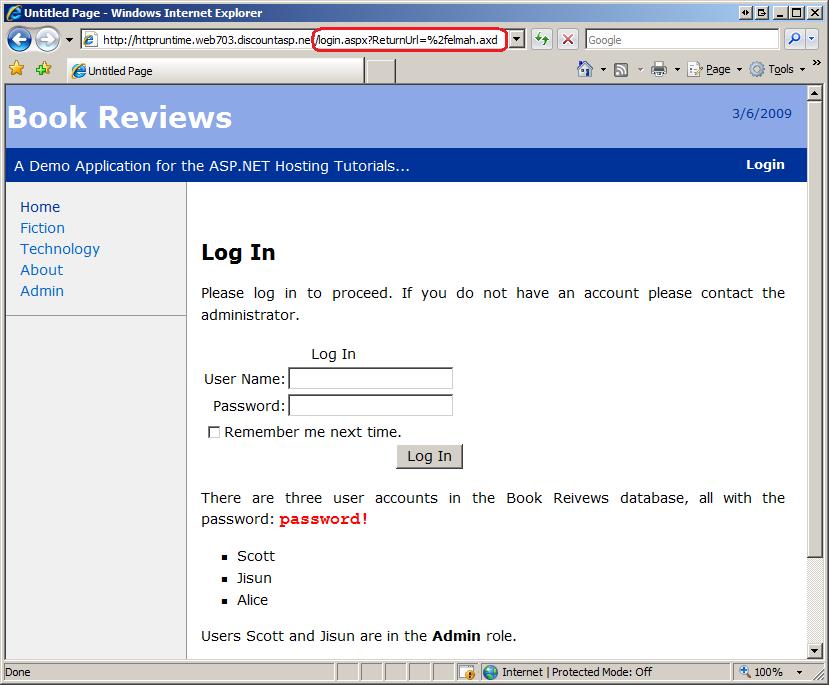 asp net login tutorial c#