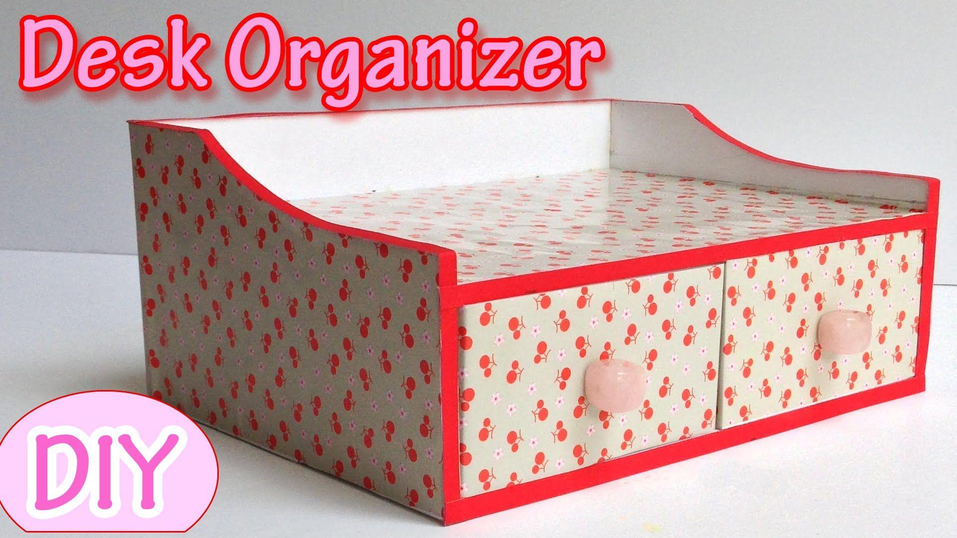 diy desk organizer tutorial
