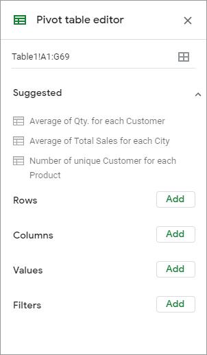 google sheets pivot table tutorial