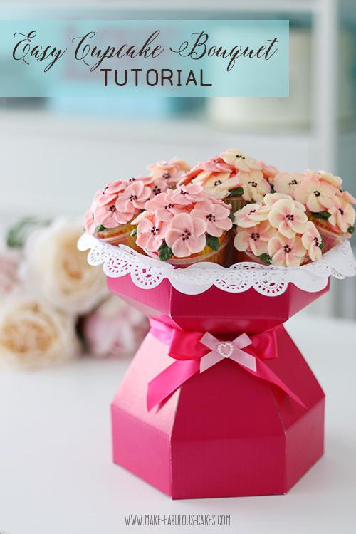 flower bouquet cake tutorial