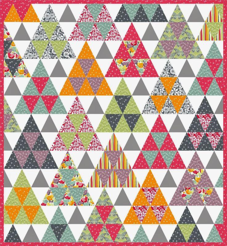 isosceles triangle quilt tutorial