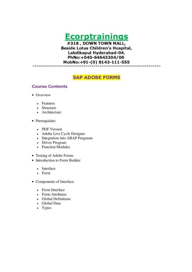 sap adobe forms tutorial ppt