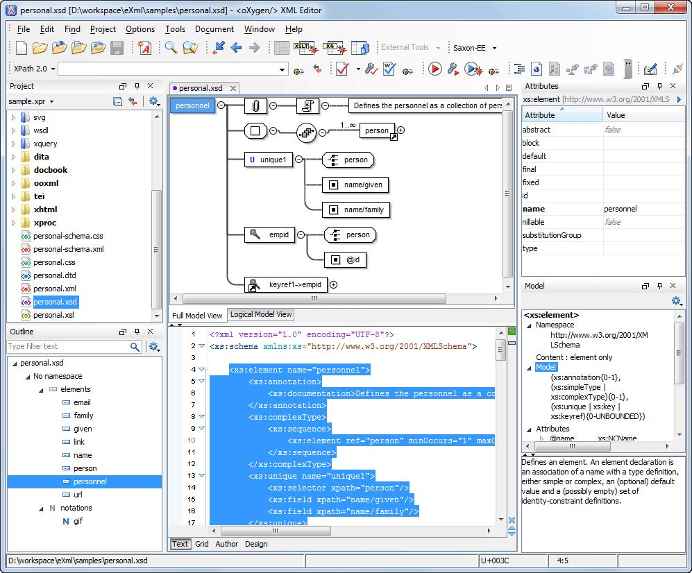 xml schema tutorial pdf
