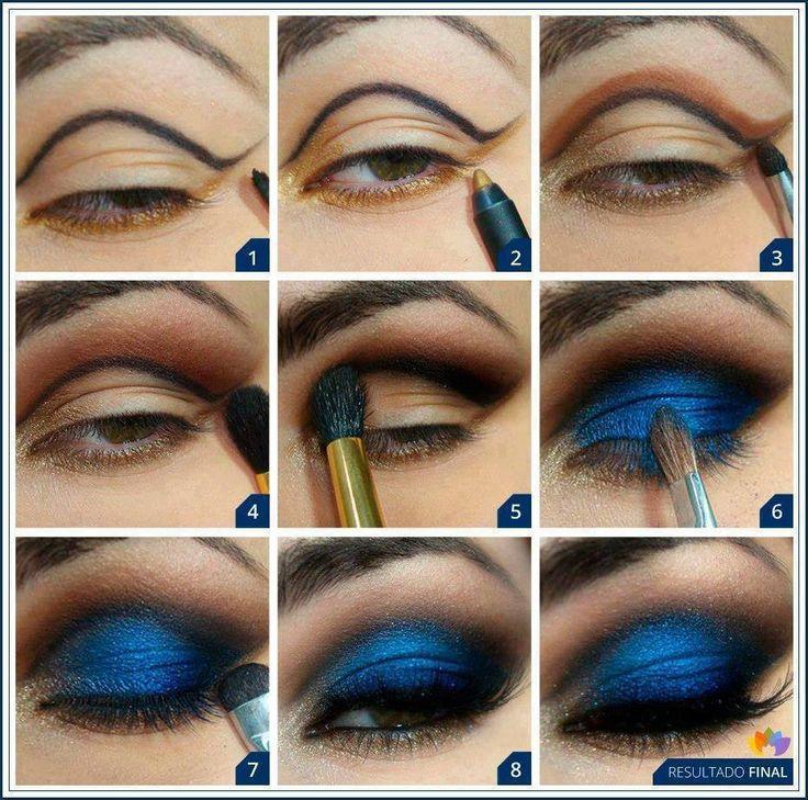 dark blue eyeshadow tutorial