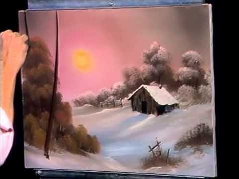 bob ross painting tutorial