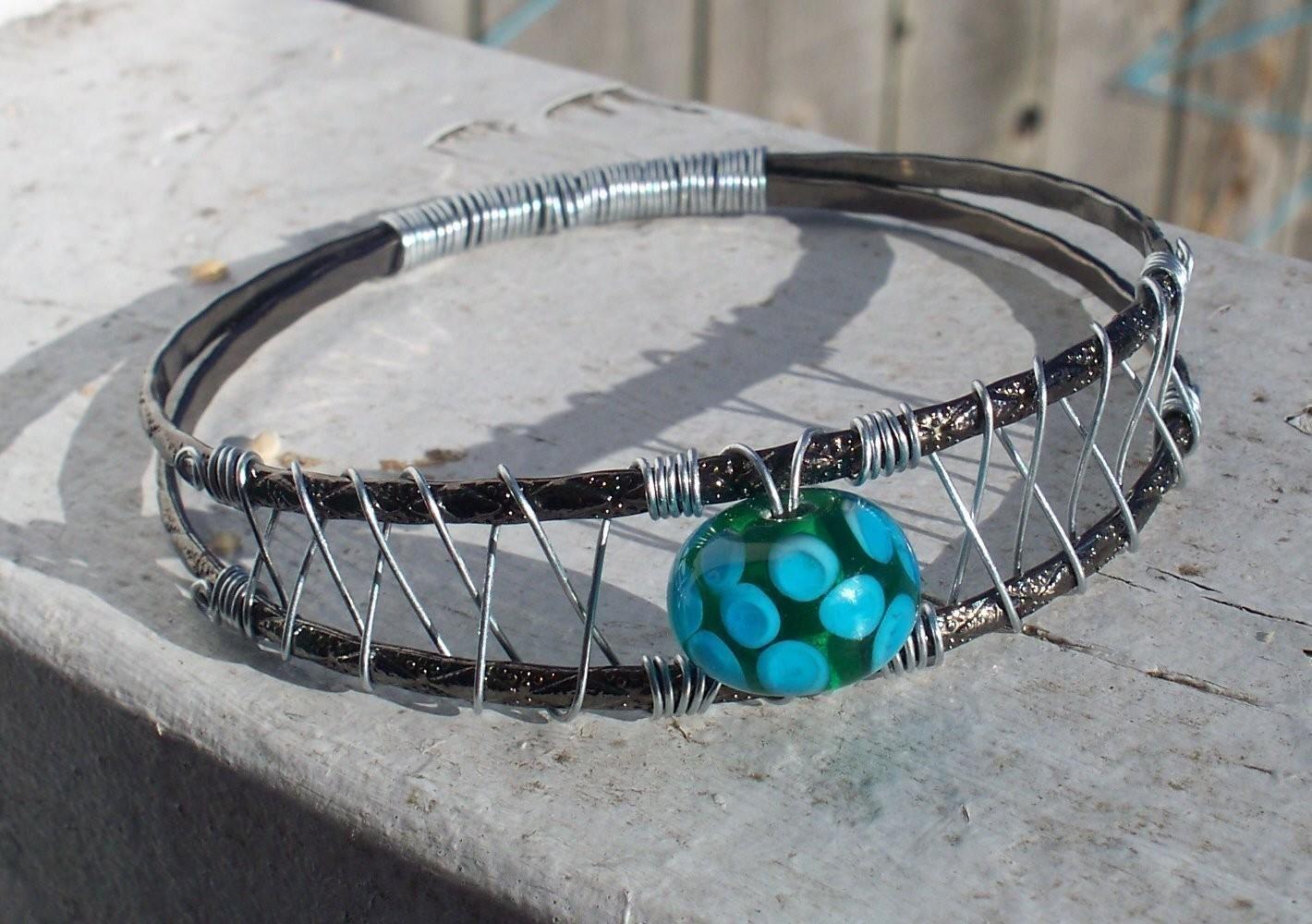 wire bangle bracelet tutorial