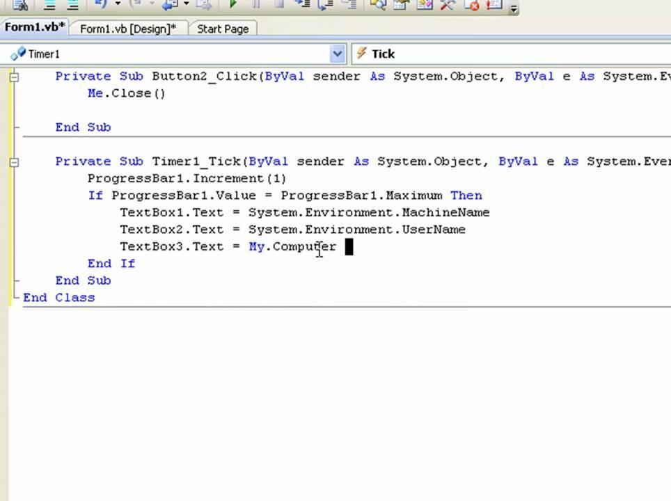 visual basic 2008 tutorial