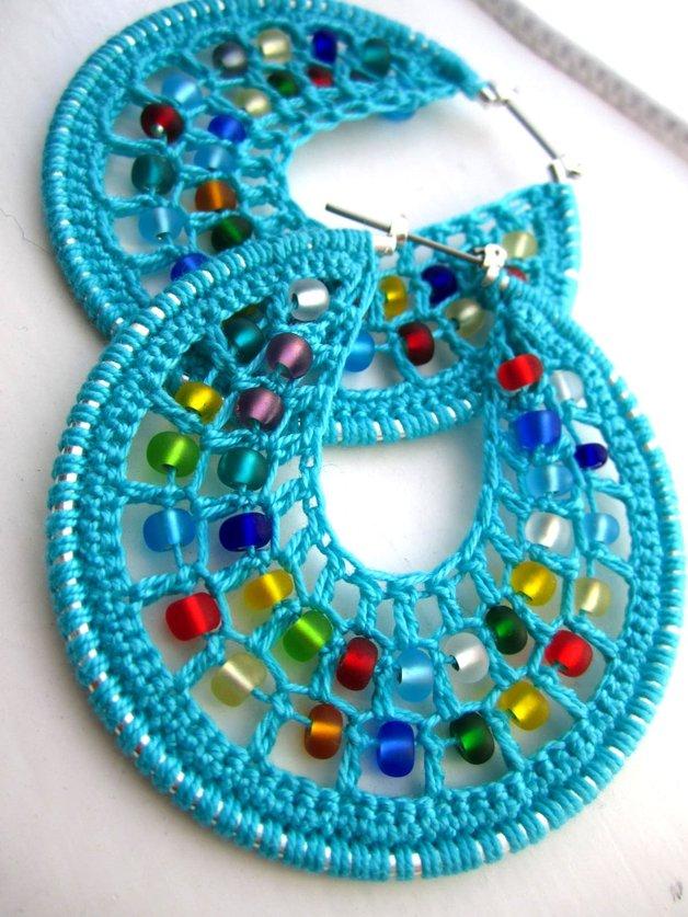 crochet hoop earrings tutorial