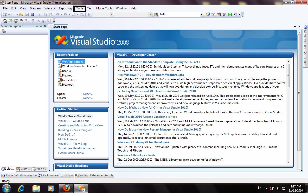 directx tutorial visual studio 2015