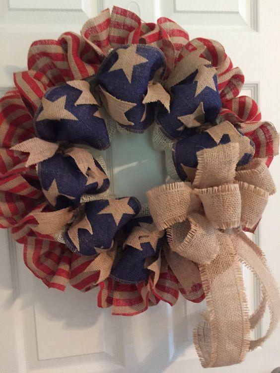 diy burlap wreath tutorial