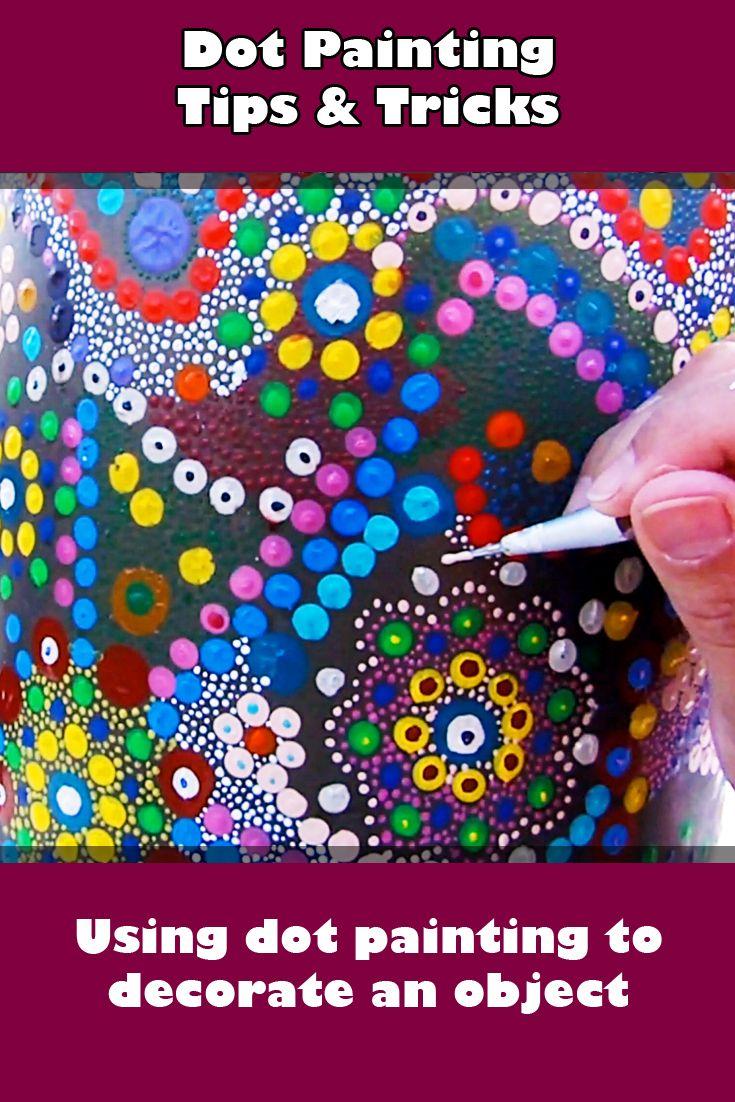 dot painting rocks tutorial