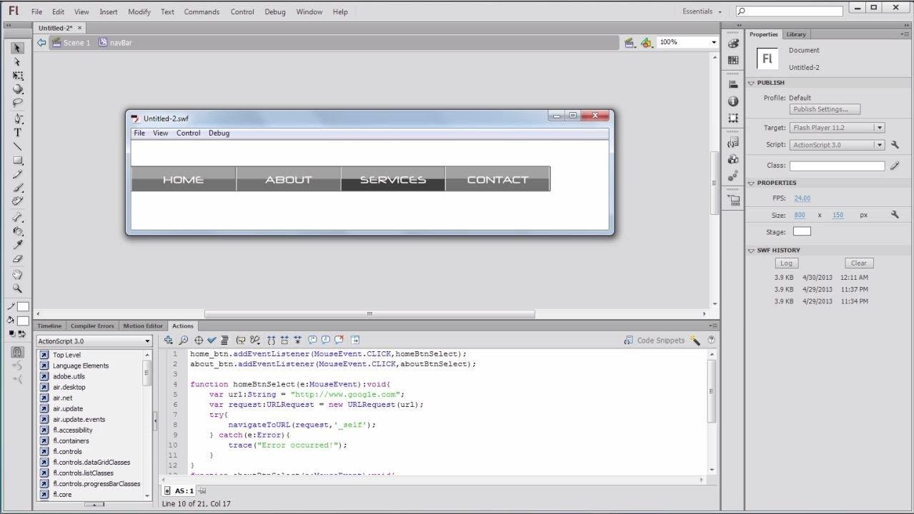 flash actionscript 3.0 tutorial