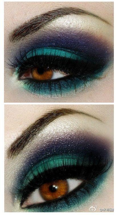green smokey eye makeup tutorial