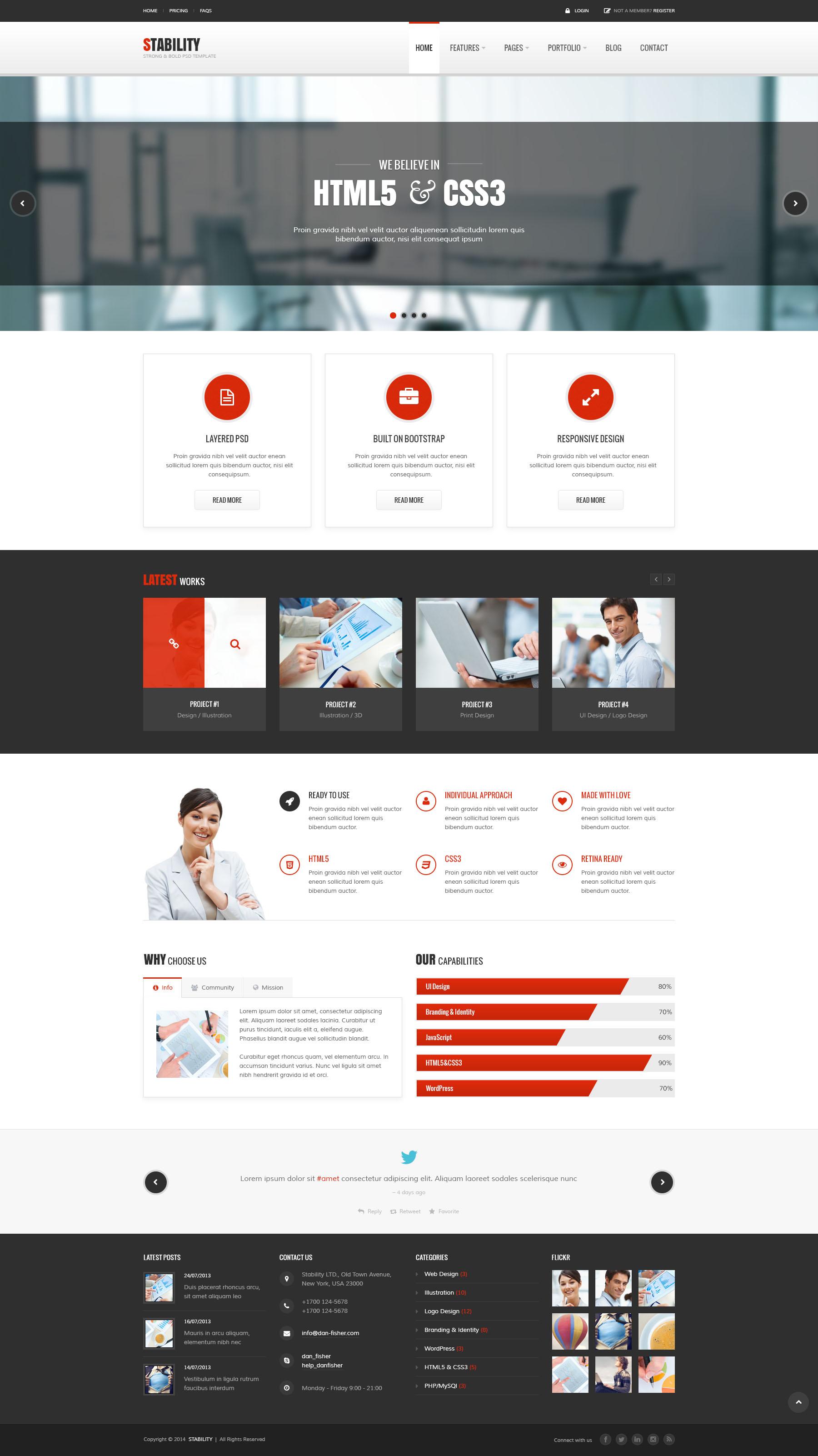 html5 css3 responsive template tutorial