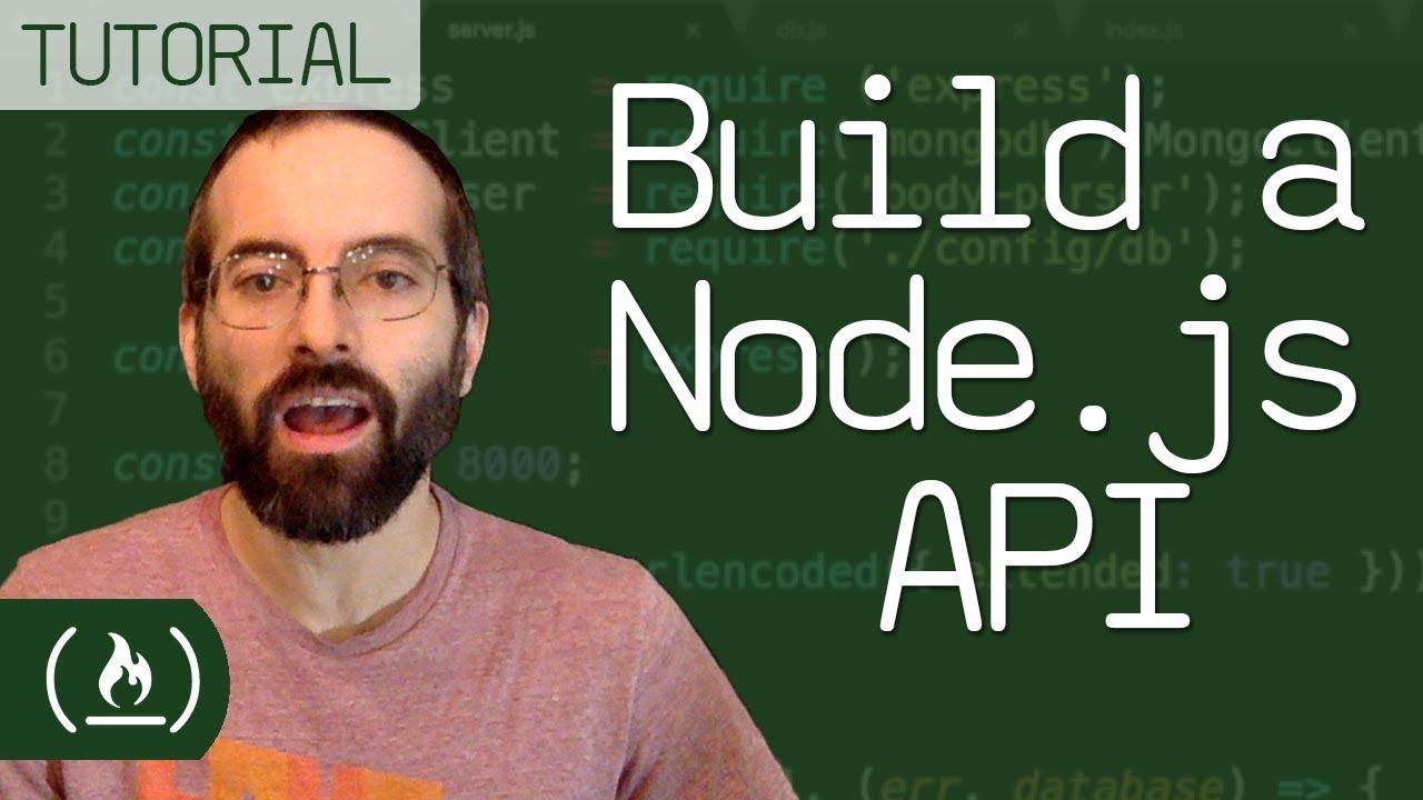 node js api tutorial