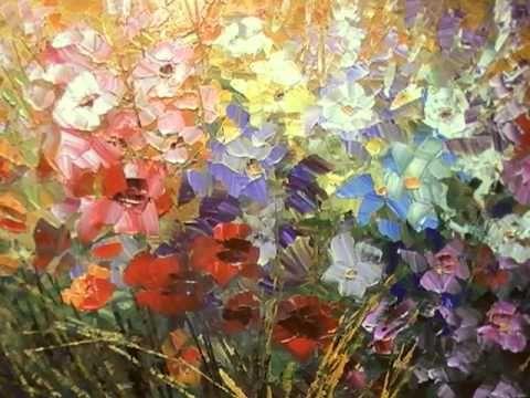 palette knife flower painting tutorial