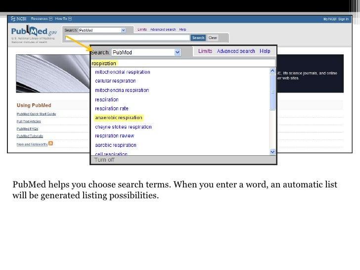pubmed advanced search tutorial