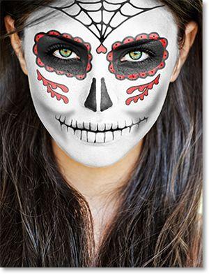 simple sugar skull face paint tutorial