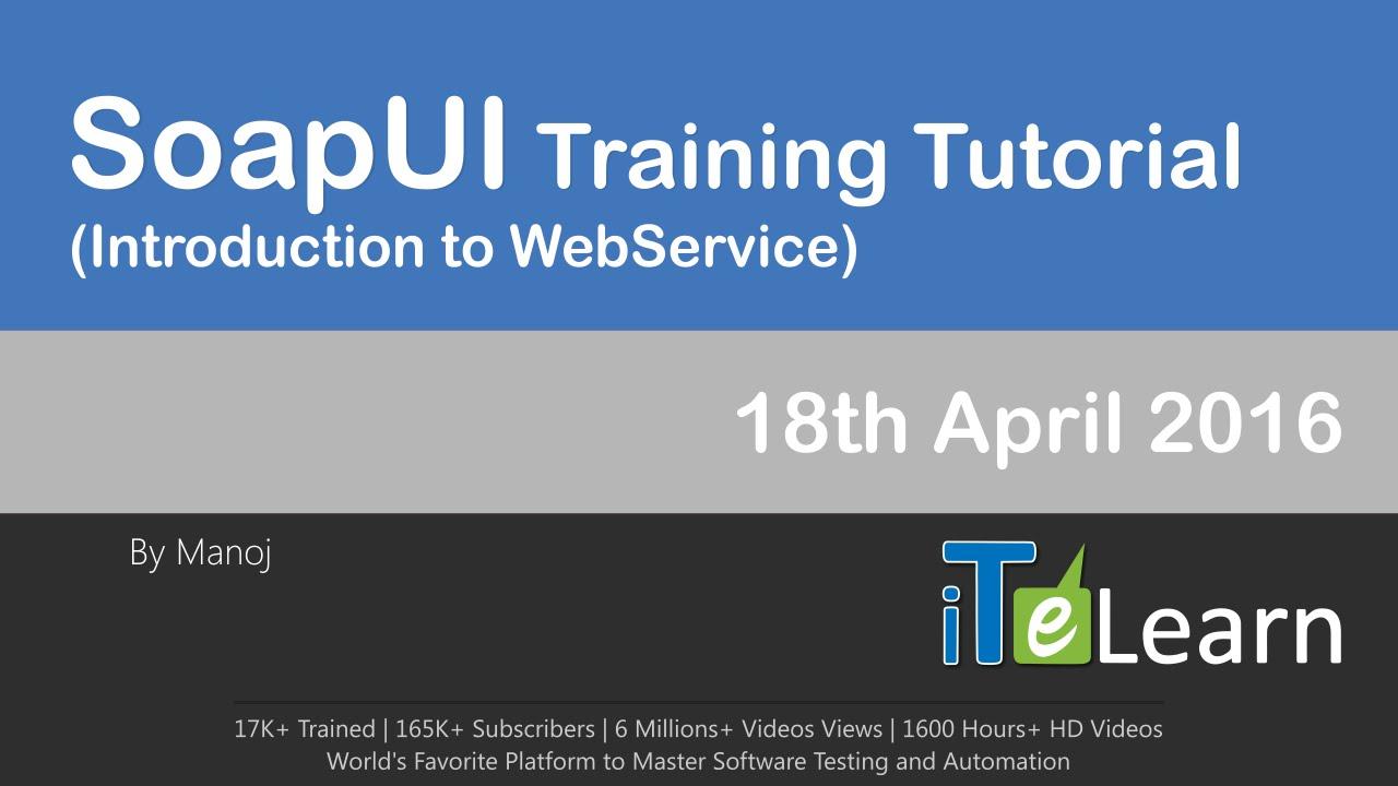 soapui web service testing tutorial