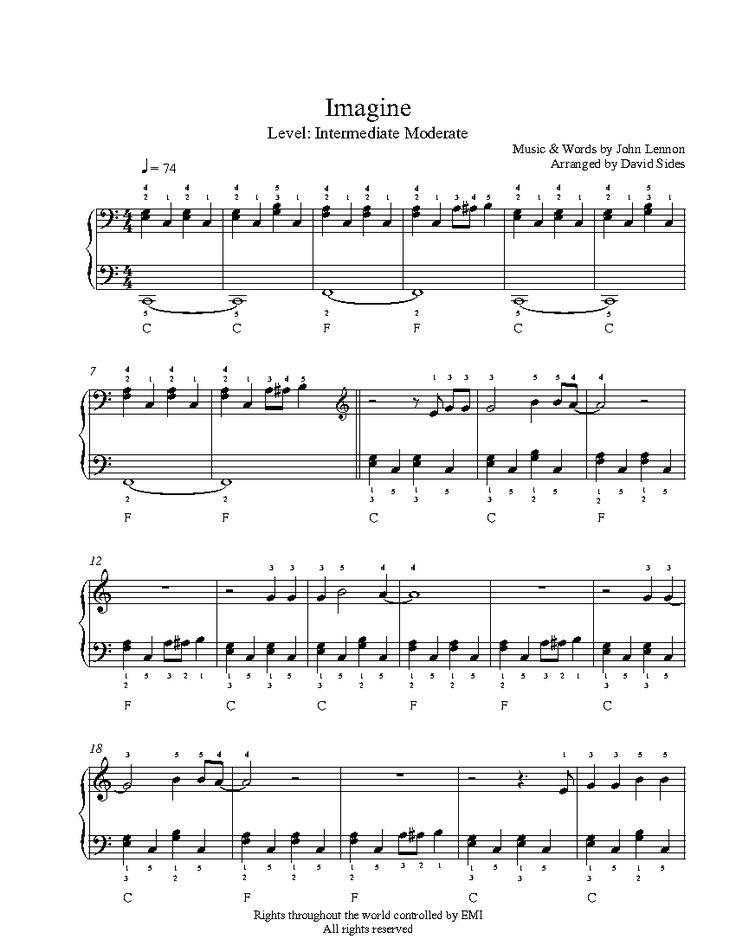 tutorial piano imagine john lennon