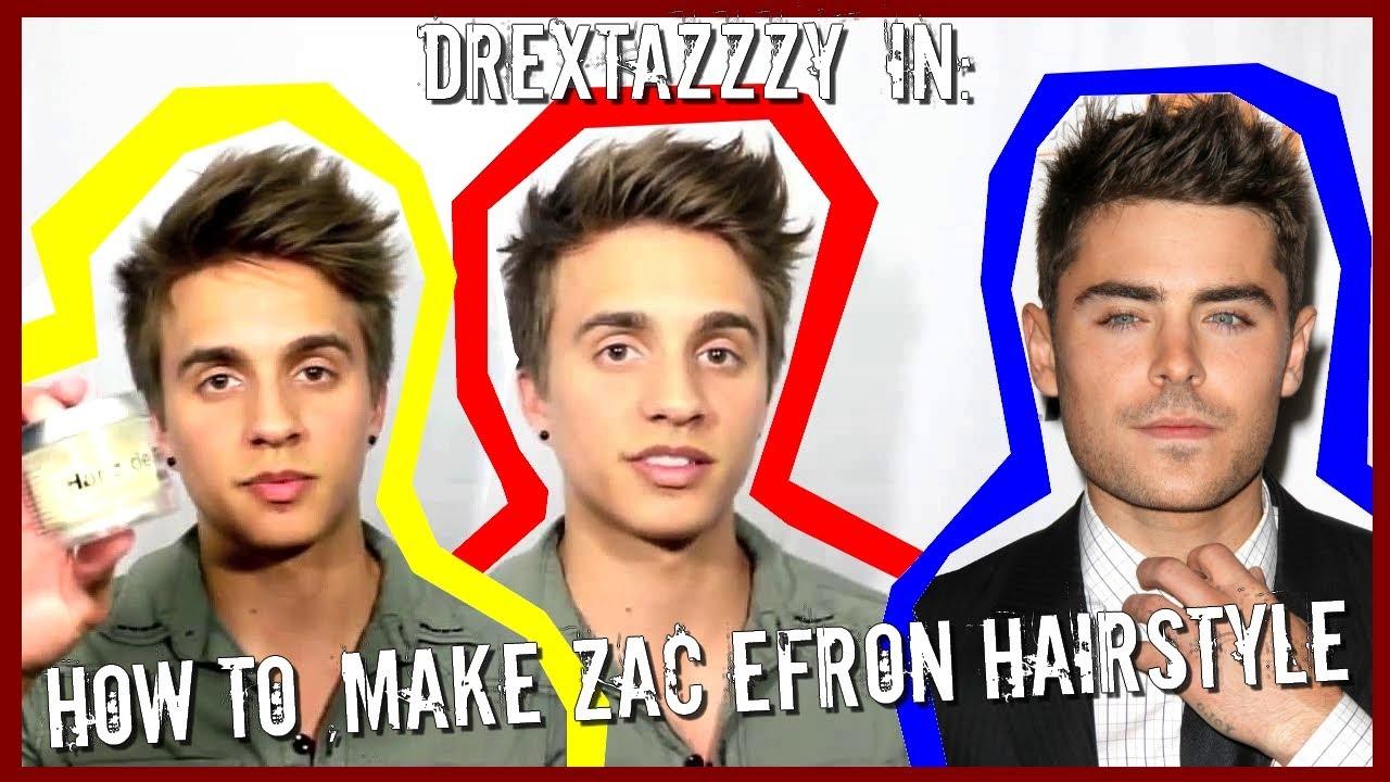 zac efron hair tutorial